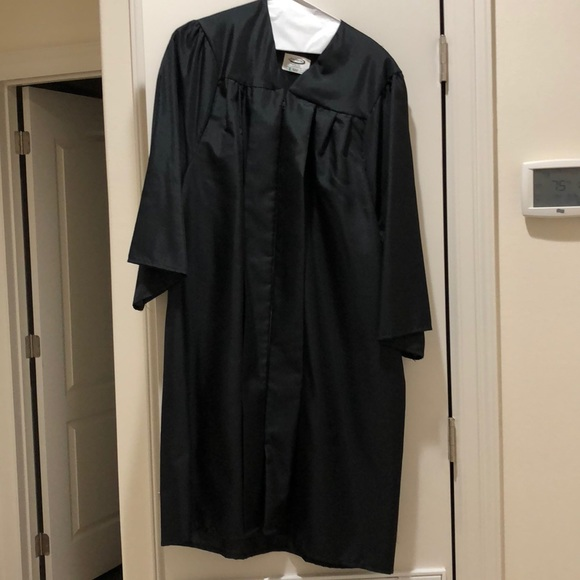 Dresses | Black Jostens Graduation Cap And Gown | Poshmark